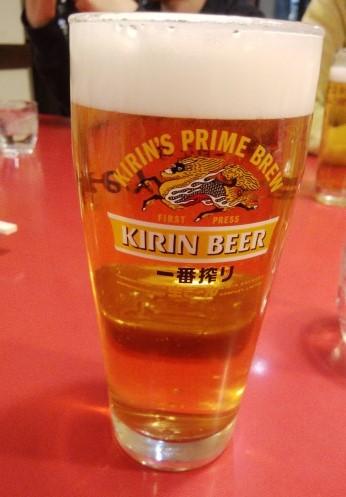 みんみん駅東口店のビールです