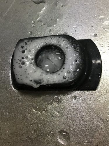 蛇口の水垢にクエン酸と重曹を混ぜてみました