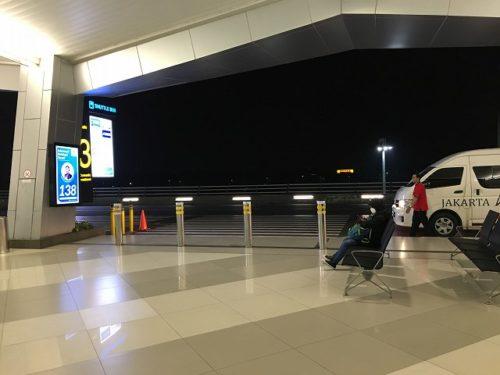 ジャカルタエアポートホテルへの連絡バス乗り場の紹介